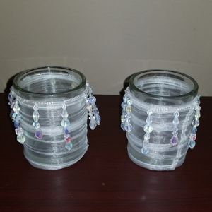Partylite Elegance Fabric Votive Pair